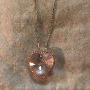 Swarovski Crystal (Genuine) pink heart necklace